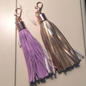 Lot of two new tassel purse charms